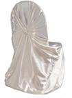 Satin Self-Tie Chair Cover